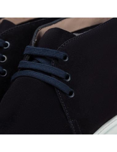 ANELEI sandalia en tejido lamé negro